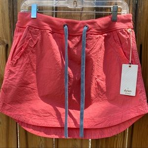Dylan Los Angeles NWT Coral Cotton Mini Skirt | 4